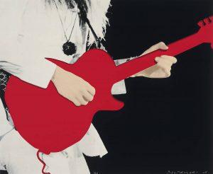 john-baldessari-person-with-guitar-red-2005